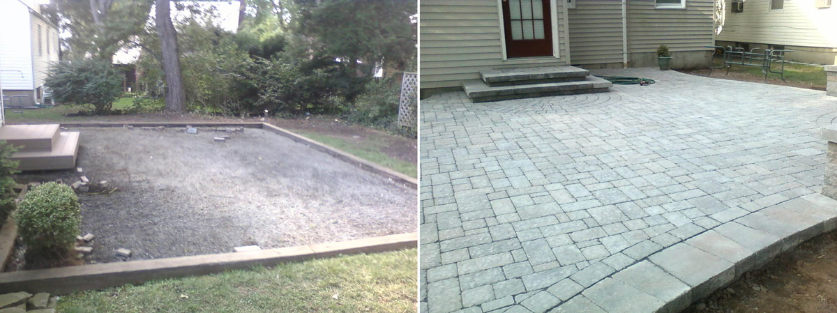 New Patio - Before & After