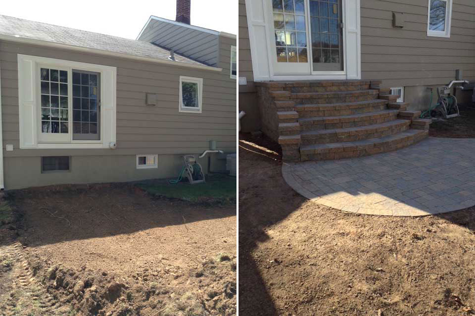Patio with Staircase - Before & After