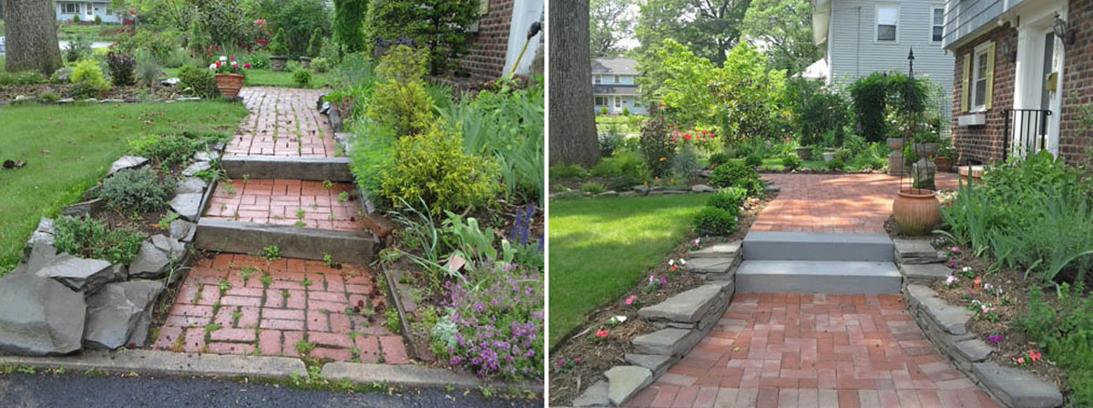 Front Walkway - Before & After