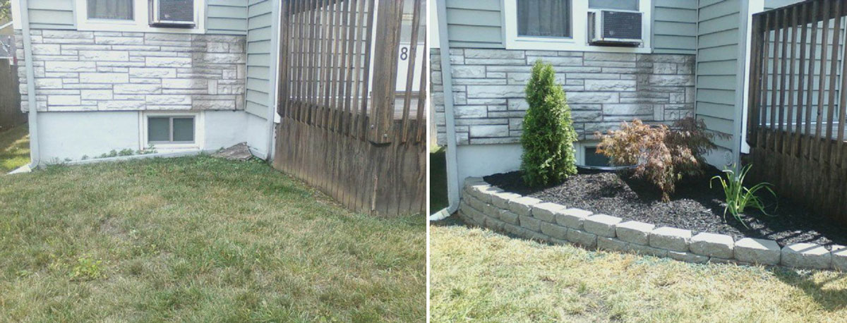 New Landscaping - Before & After