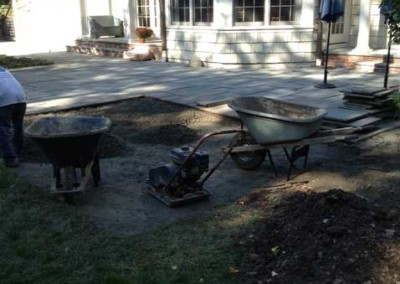 Patio and Landscape - Before