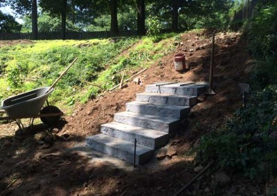 Slab Steps and Turf Installation - During