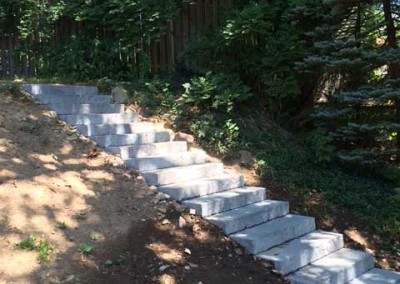 Slab Steps and Turf Installation - After